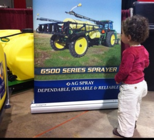 Checking out the product display at Southern Farm Show in Raleigh