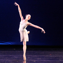 Lydia Bevan performing Danse Allegresse, Raleigh Dance Theatre, spring 2011 (c) Robert Schantz